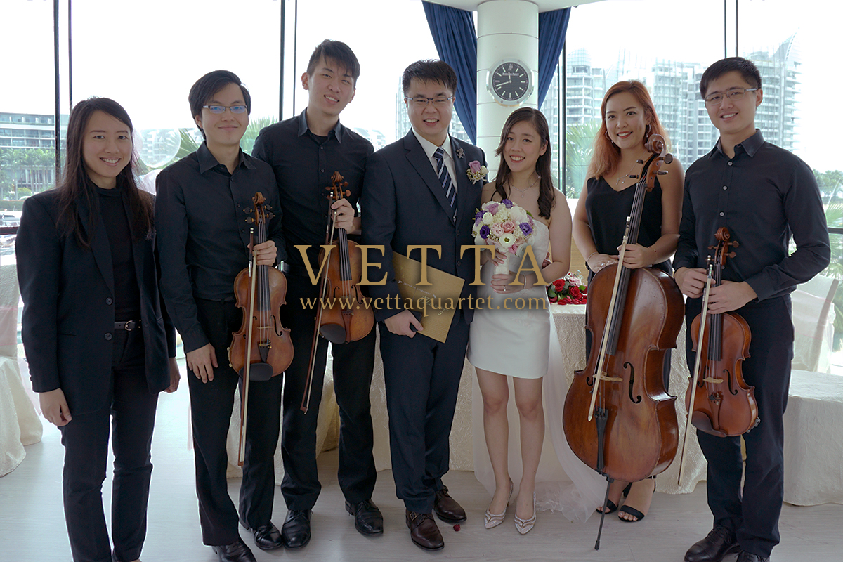 String Quartet and Piano for Emily's Wedding at One Degree 15 Marina Club