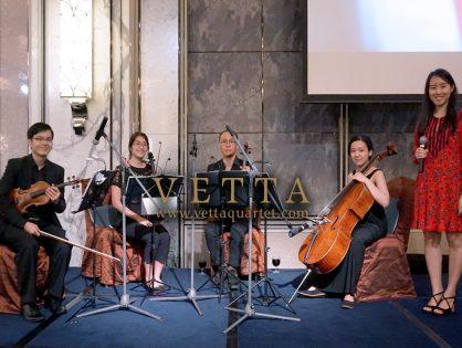 String Quartet and Singer for Silviana's Wedding at Shangri-La, Tower Ballroom