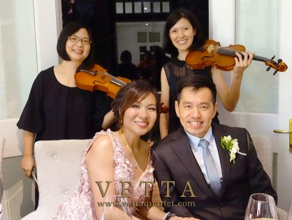 Violin Duo for Josephine's Wedding at The Corner House