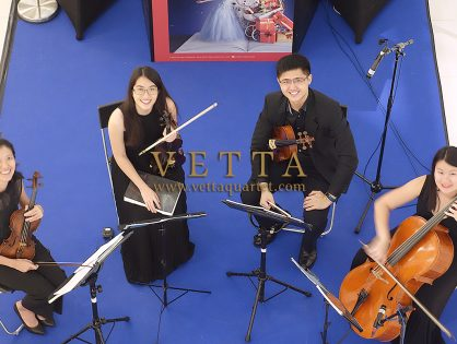 String Quartet for Christmas Event at Scotts Square, Orchard