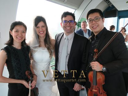 Violin Duo for Maria's Wedding Anniversary at Singapore Flyer Capsule