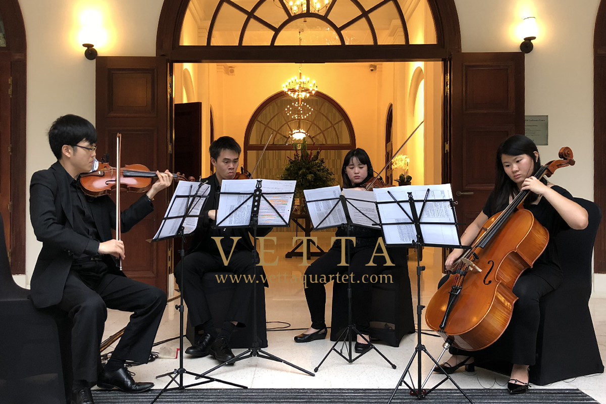 String Quartet for Birthday Celebration at Changi Cove, CommandHouse
