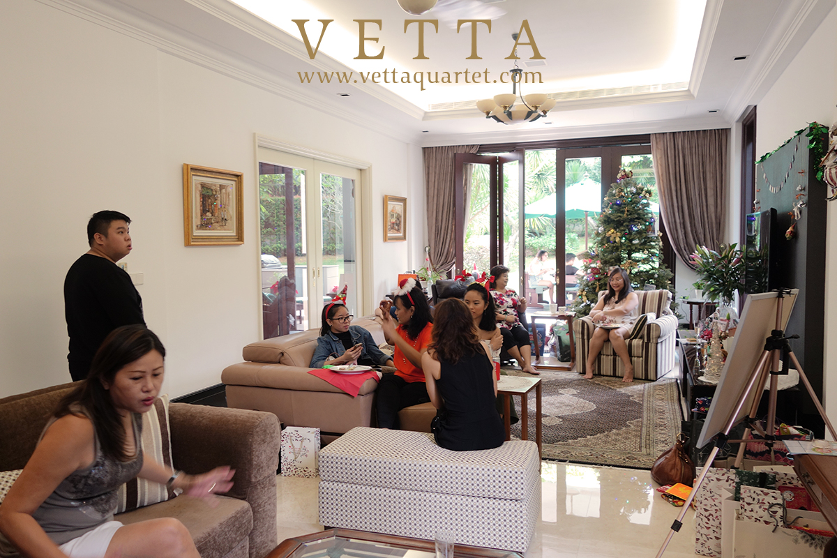 Live String Musicians playing Christmas songs for Private Home Celebration Singapore