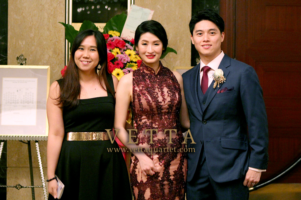 ESTA Quartet and Emcee for Chin Wei and Cynthia's Wedding at Shangri-La Hotel