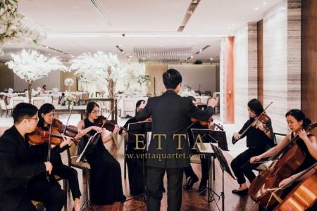 String Ensemble musicians showcase for wedding at Grand Hyatt