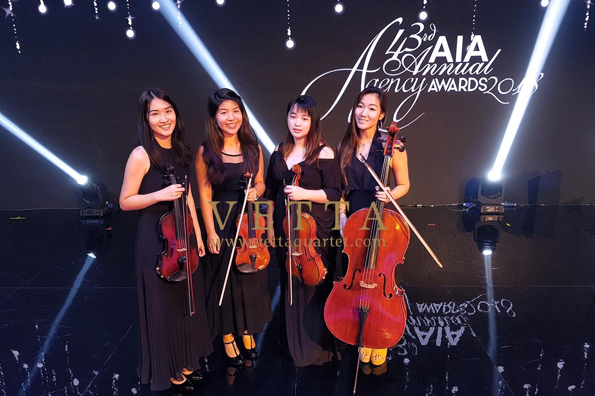 ESTA Quartet at AIA Annual Agency Awards at Marina Bay Sands