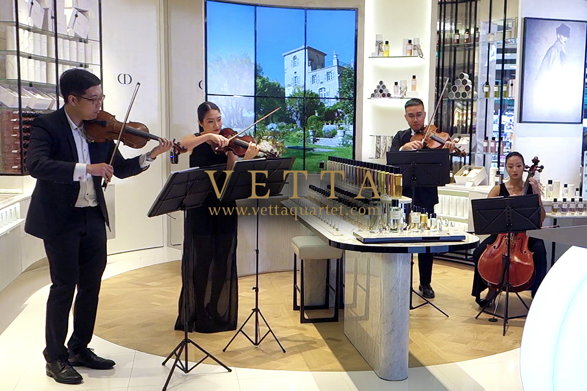 VETTA String Quartet performing at Dior Grand Opening at ION