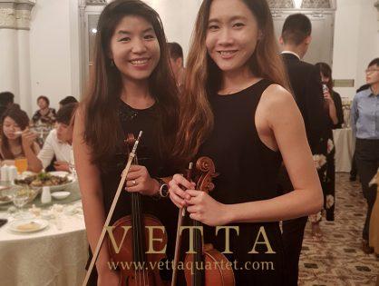 Violin Duo for Tiffany and Ian's Wedding at CHIJMES