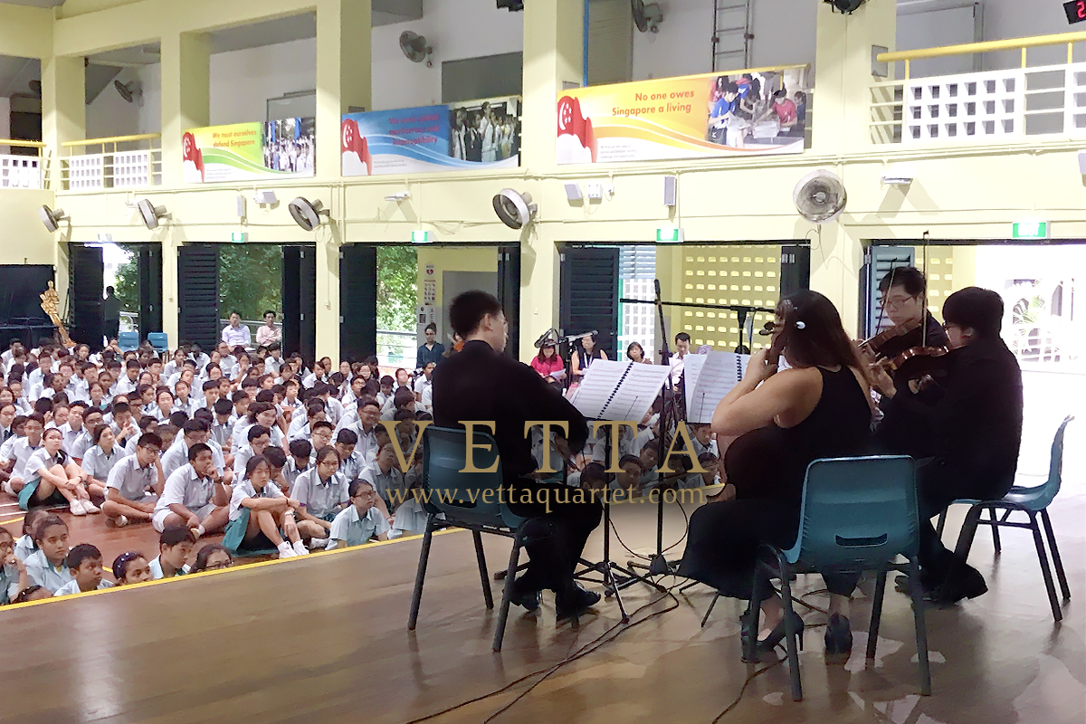 String Quartet Arts Exposure Programme at Singapore High School