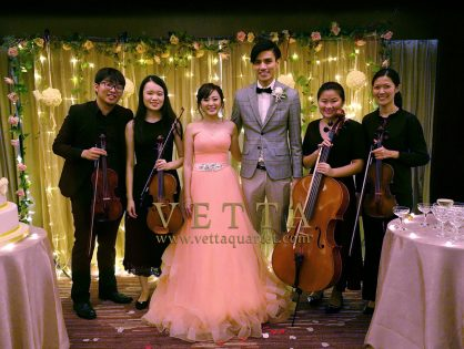 String Quartet for Petrina's Wedding at Sheraton Towers Hotel