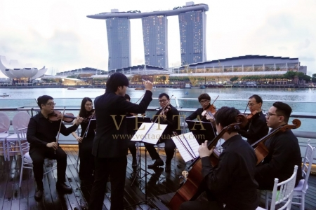 String Orchestra performing live music for Solemnization at Singapore Monti