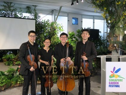 String Quartet at Singapore Garden Festival