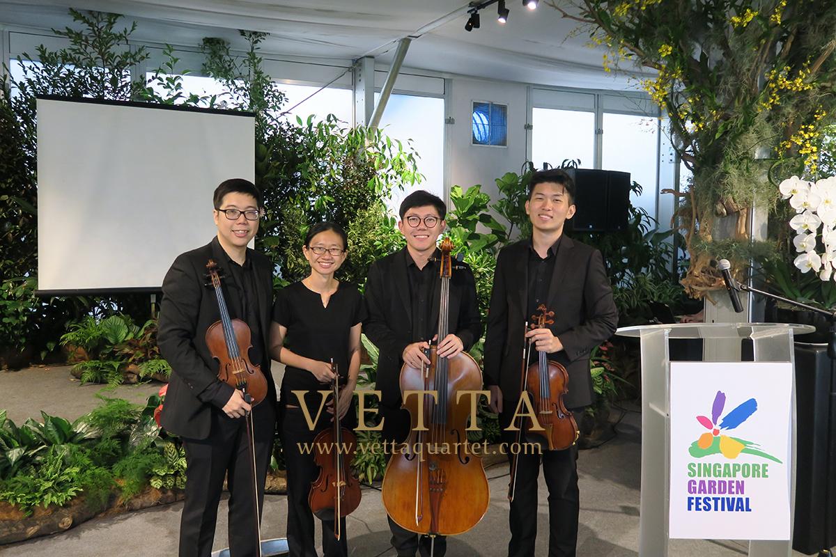 String Quartet at Singapore Garden Festival
