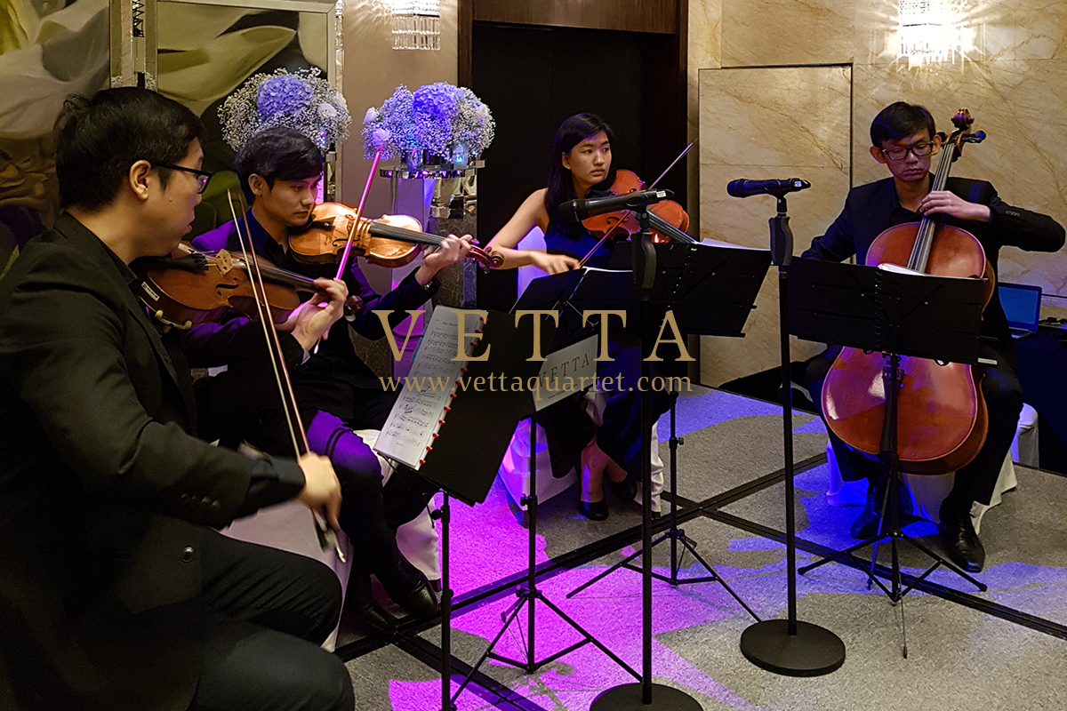 String Quartet performing for banquet at The Westin Hotel Singapore