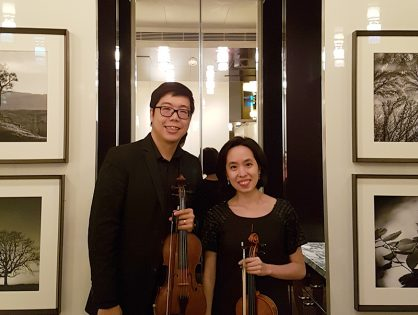 Violin Duo for Birthday Celebration at Ritz Carlton
