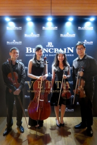 Four Live String Musicians performing for Blanpain