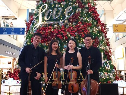 String Quartet for Christmas Showcase at Clarke Quay Central