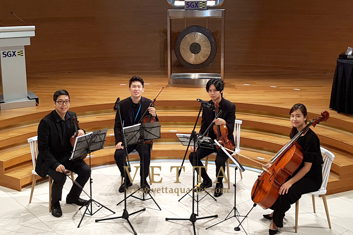 String Quartet for Medinex IPO Listing at SGX Center and Dinner at Carlton Hotel