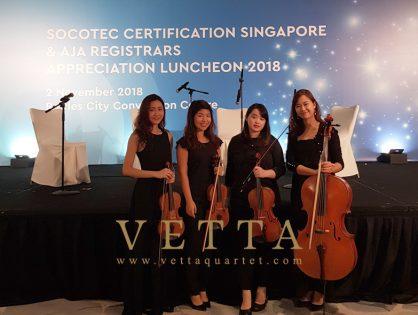 String Quartet for SCS & AJA Appreciation Luncheon 2018 at Fairmont Hotel, Stamford Ballroom