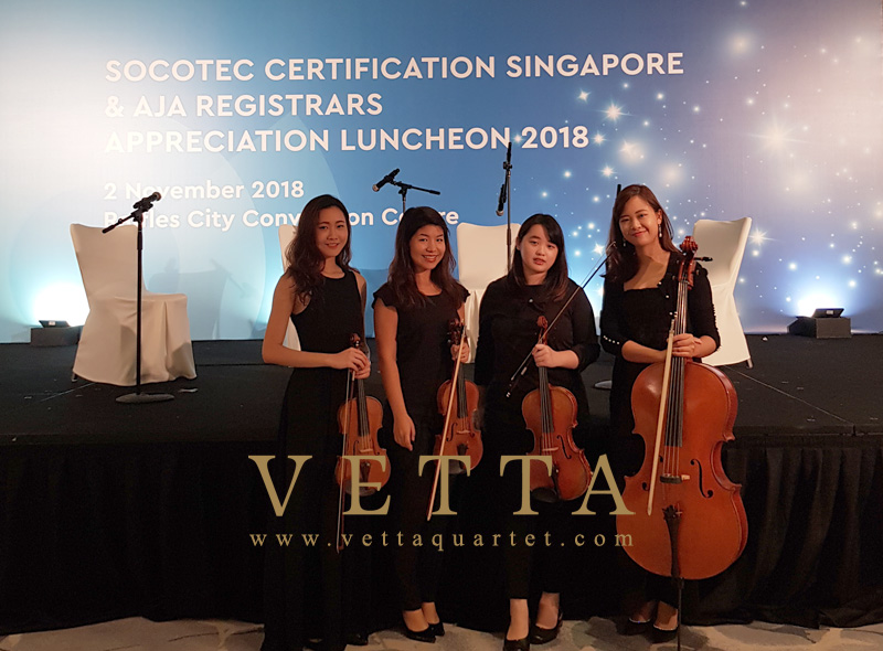 String Quartet for SCS & AJA Appreciation Luncheon 2018 at Fairmont Hotel, Stamford Ballroom
