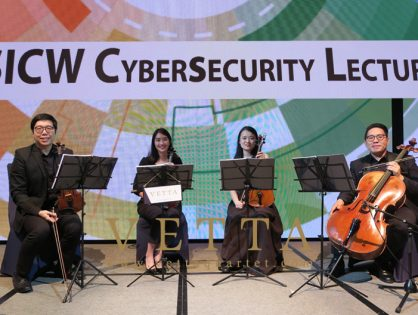String Quartet for SICW CyberSecurity Lecture at JW Marriott Singapore