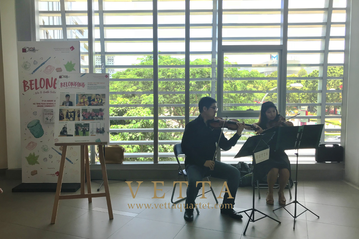 Violin Duo for JurongHealth Campus Arts & Health Festival 2018 at Ng Teng Fong General Hospital
