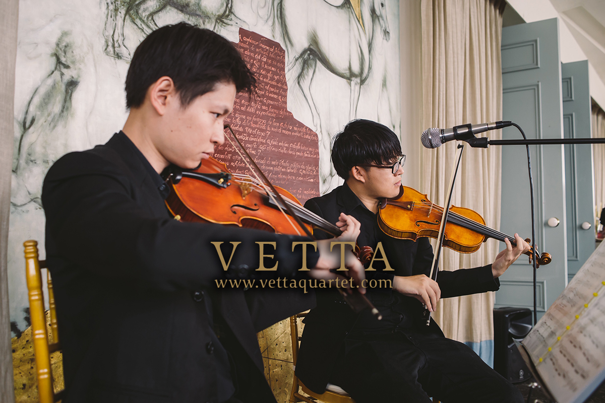 male violin duo for wedding at forlino