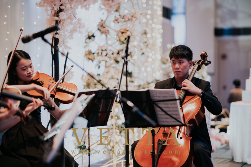 String Quartet for Wedding Banquet at Marriott Singapore