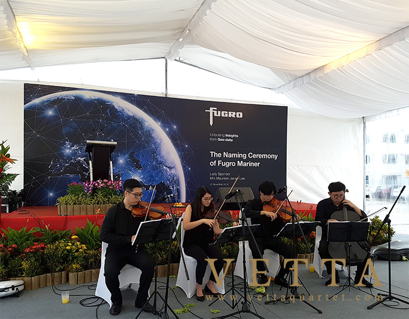 String Quartet performed at Loyang Offshore Supply Base