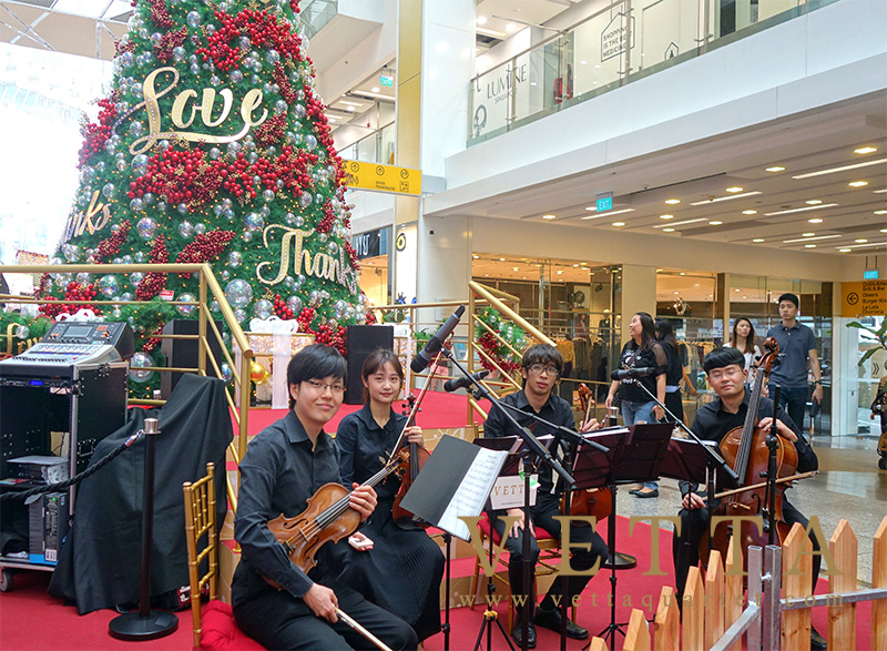 String Quartet for Christmas Celebration at Clarke Quay Central