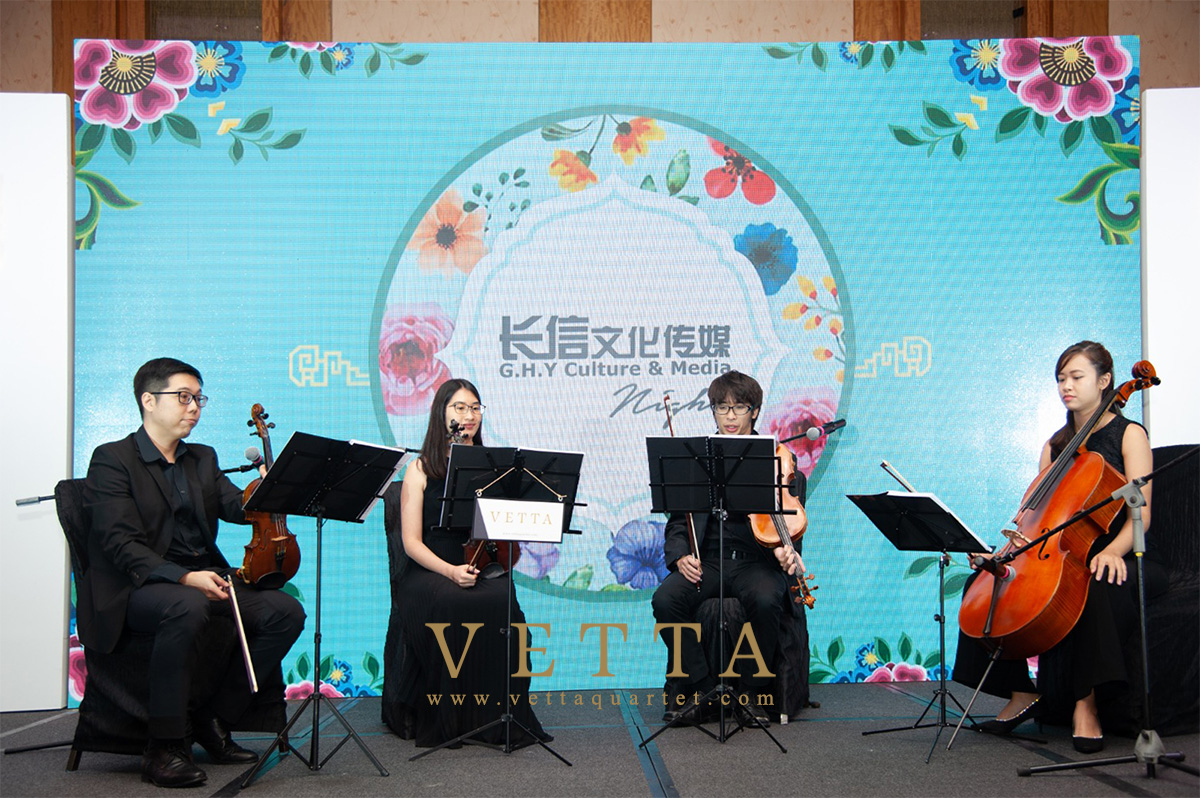 String Quartet performed Marina Bay Sands Convention Centre