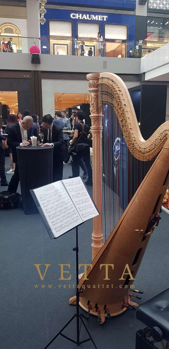 Solo Harp for Blancpain's New Year's Event at MBS