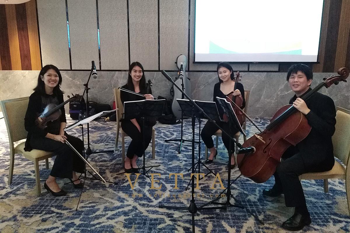String Quartet for CSI at Hilton Hotel