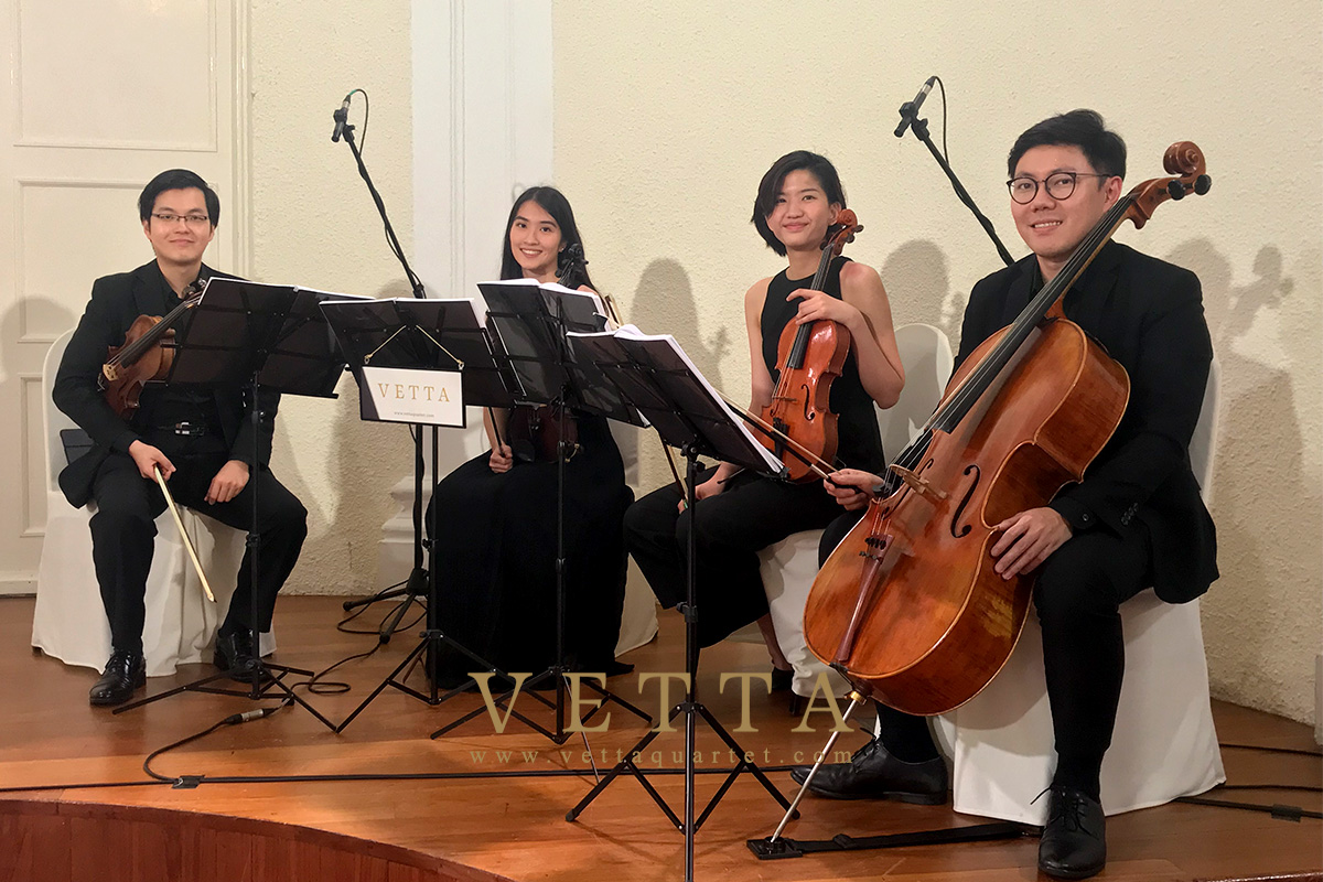 String Quartet for Wedding at The Arts House