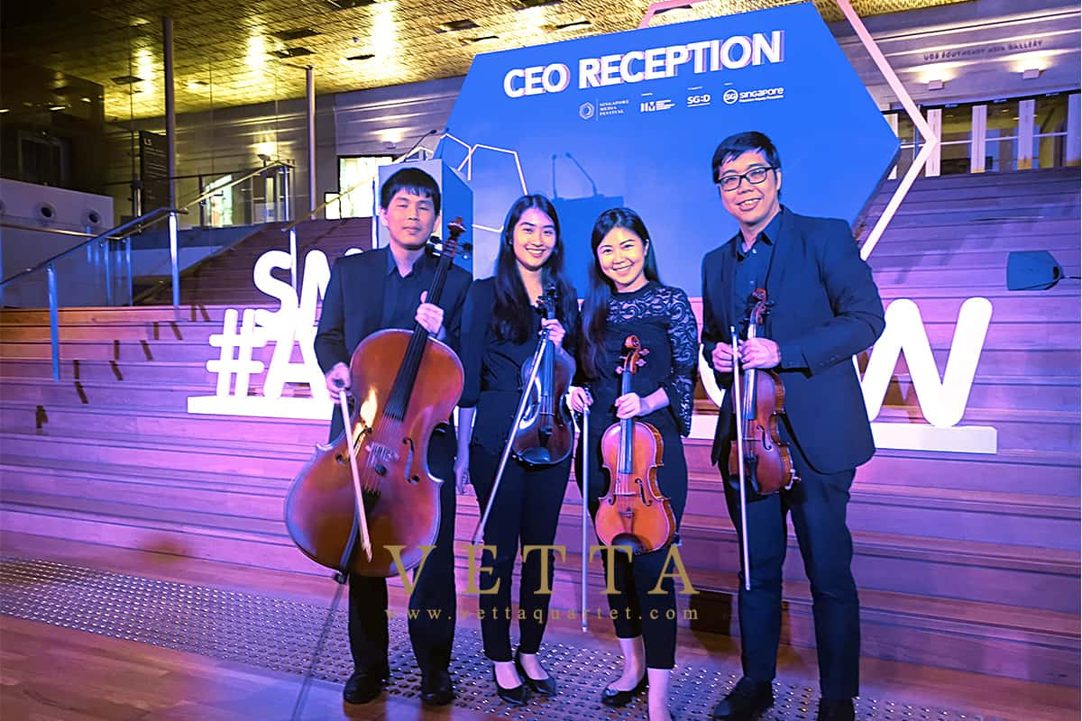 String Quartet for Singapore Media Festival CEO Reception at National Gallery Singapore, Supreme Court Terrace